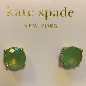 kate spade Jewelry - New Kate Spade Stud Earrings Mint Green